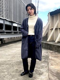 ルミネエスト新宿店のAzusaさんのLeeの【ユニセックス】【やわらかフリース】ノーカラーコートを使ったコーディネート