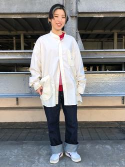 ルミネエスト新宿店のアンドウさんのLeeの【直営店・WEB限定】ビッグポケット シャツジャケットを使ったコーディネート