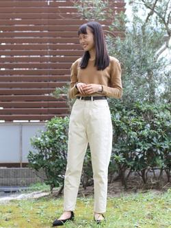 DENIM GALAXY日暮里店のChihiroさんのSOMETHINGのSOMETHING W-FRONT ルーミースリムを使ったコーディネート