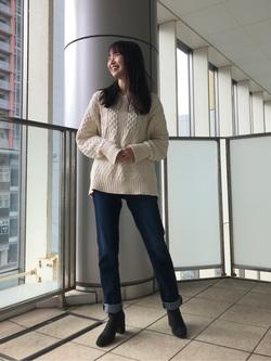 DENIM GALAXY日暮里店のChihiroさんのEDWINのEDWIN LADIES ジャージーズ スリムストレート【スタンダードモデル】を使ったコーディネート