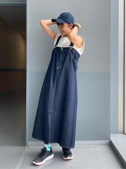 Lee アミュプラザ博多店のMarikoさんのLeeの終了【SALE】サスペンダー デニムスカートを使ったコーディネート