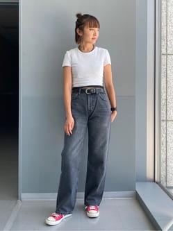 Lee アミュプラザ博多店のMarikoさんのLeeの【otonaMUSE掲載】【毎日履きたい】ボーイズストレートパンツを使ったコーディネート