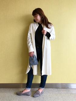 成田空港店(閉店)のMegumiさんのLeeの終了【WINTER SALE 再値下げ】へンリーネックシャツ 長袖を使ったコーディネート