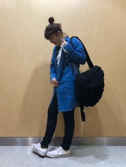 成田空港店(閉店)のMegumiさんのLeeの終了【決算SALE】へンリーネックシャツ 長袖を使ったコーディネート