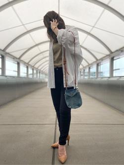成田空港店(閉店)のMegumiさんのLeeの【リピート率No1&年間ベストセラー】ジェギンス ストレッチ スキニーを使ったコーディネート