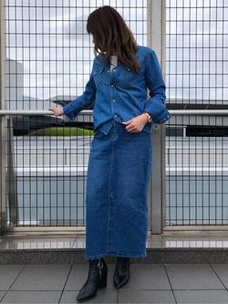 成田空港店(閉店)のMegumiさんのLeeのウエスタンシャツ 長袖を使ったコーディネート
