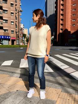 日暮里駅前店のyumiさんのSOMETHINGの【おまとめ割15%OFF対象】SOMETHING テーパードストレートを使ったコーディネート