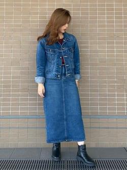 ルクア大阪のRunaさんのLeeの【MY定番】デニムジャケットを使ったコーディネート