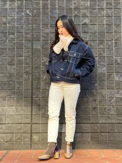 大阪店のRunaさんのLeeのSTANDARD WARDROBE RIDERS デニムジャケットを使ったコーディネート