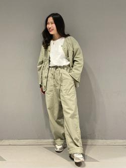 大阪店のRunaさんのLeeのノーカラージャケット/カーディガンを使ったコーディネート