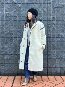 大阪店のRunaさんのLeeの【Winter sale】【寒い冬もあたたかい】ロングボアジャケットを使ったコーディネート