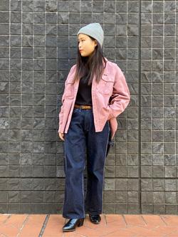 大阪店のRunaさんのLeeの【再値下げ Winter sale】【ユニセックス】ビッグフィット ワークシャツ(コーデュロイ)を使ったコーディネート