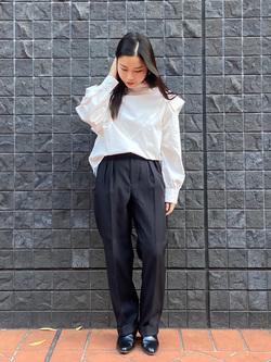 大阪店のRunaさんのLeeのビックショルダーシャツを使ったコーディネート