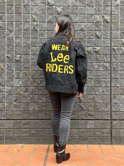 大阪店のRunaさんのLeeの101 PROJECT RIDERS JACKETを使ったコーディネート