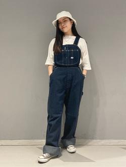 大阪店のRunaさんのLeeの【竹下玲奈さんモデル】オーバーオールを使ったコーディネート