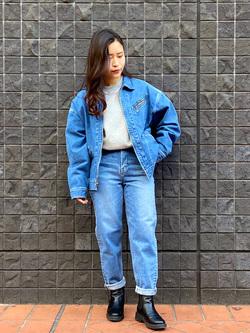 大阪店のRunaさんのLeeの【Winter sale】91B デニムジャケットを使ったコーディネート