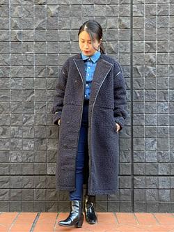 大阪店のRunaさんのLeeの【寒い冬もあたたかい】ロングボアジャケットを使ったコーディネート