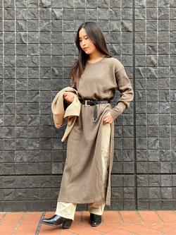 大阪店のRunaさんのLeeの【Winter sale】サーマルロングドレスを使ったコーディネート