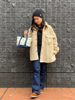 大阪店のRunaさんのLeeの【トップス15%OFFクーポン対象】【ふっくらボア】CPO ジャケットを使ったコーディネート
