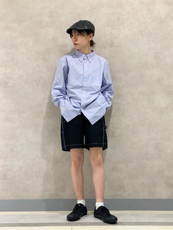 Lee 名古屋店のyuzukiさんのLeeの【SALE】ベーシック ボタンダウンシャツ/長袖を使ったコーディネート