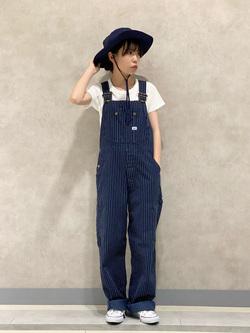 Lee 名古屋店のyuzukiさんのLeeの【竹下玲奈さんモデル】ジャストフィットTシャツを使ったコーディネート