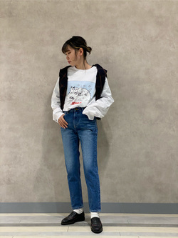 Lee 名古屋店のyuzukiさんのLeeの【BuddyLee100周年記念】Lee×望月玲児郎 長袖Tシャツを使ったコーディネート