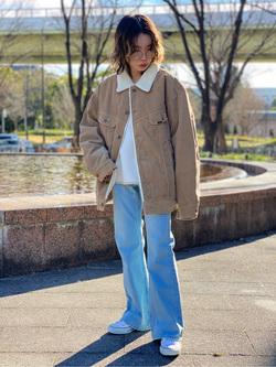 Lee 名古屋店のyuzukiさんのLeeの終了【Winter sale】BOA STORM RIDER ジャケット【コーデュロイ】を使ったコーディネート