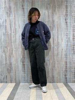 Lee 名古屋店のyuzukiさんのLeeの終了【Winter sale】【男女兼用】デニムポケット スウェットを使ったコーディネート