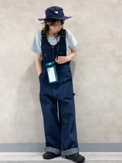 Lee 名古屋店のyuzukiさんのLeeのポーチinハットを使ったコーディネート
