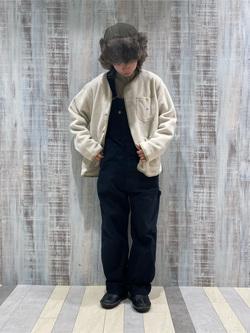 Lee 名古屋店のyuzukiさんのLeeの【ユニセックス】【やわらかフリース】ノーカラージャケットを使ったコーディネート