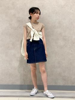 Lee 名古屋店のyuzukiさんのLeeの【SALE】バンドカラー コットン 長袖シャツを使ったコーディネート