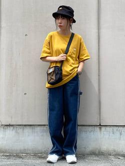 Lee 名古屋店のyuzukiさんのLeeの【試着対象】フレイドシーム ペインターパンツを使ったコーディネート