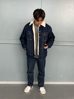 Lee アミュプラザ博多店のTaikiさんのLeeの終了【再値下げ Winter sale】BOA STORM RIDER ジャケット【デニム】を使ったコーディネート