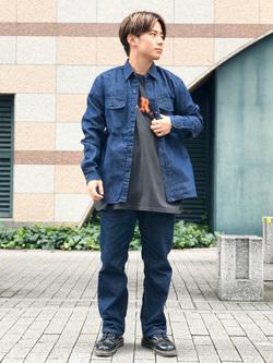 Lee アミュプラザ博多店のTaikiさんのLeeの【定番】ウエスタン デニムシャツ長袖を使ったコーディネート