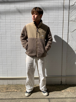 Lee アミュプラザ博多店のTaikiさんのLeeの【ユニセックス】フリースジップアップジャケットを使ったコーディネート