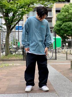 Lee アミュプラザ博多店のTaikiさんのLeeの終了【シークレットセーール!!】LEE PIPES 長袖Tシャツを使ったコーディネート