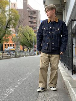 Lee アミュプラザ博多店のTaikiさんのLeeの終了【サマーセール】ポケット付きTシャツ 長袖を使ったコーディネート
