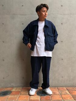 Lee アミュプラザ博多店のTaikiさんのLeeの【セットアップ対応】チェトパ ジャケットを使ったコーディネート