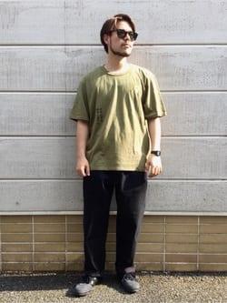 TOKYO HARAJUKU店のSHIZUKUさんのEDWINの【コンセプトショップ限定】EDWIN EUROPE AUTONOMOUS TEEを使ったコーディネート