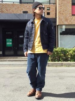 TOKYO HARAJUKU店のSHIZUKUさんのEDWINの【コンセプトショップ限定】INDIGO GARMENTS HUNTING  PANTSを使ったコーディネート