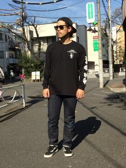TOKYO HARAJUKU店のSHIZUKUさんのEDWINの【コンセプトショップ限定】EDWIN EUROPE STRANGE OBJECTS TEEを使ったコーディネート