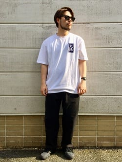 TOKYO HARAJUKU店のSHIZUKUさんのEDWINの【コンセプトショップ限定】EDWIN EUROPE TAROT DECK 1 TEEを使ったコーディネート