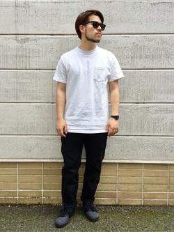 TOKYO HARAJUKU店のSHIZUKUさんのEDWINの【コンセプトショップ限定】SLIM TAPERED ボタンフライ 【レングス71.5cm】を使ったコーディネート