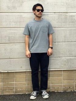 TOKYO HARAJUKU店のSHIZUKUさんのEDWINの【SALE】【コンセプトショップ限定】BORDER TEEを使ったコーディネート