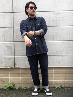 TOKYO HARAJUKU店のSHIZUKUさんのEDWINの【コンセプトショップ限定】WORK SHIRTSを使ったコーディネート
