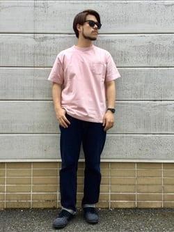 TOKYO HARAJUKU店のSHIZUKUさんのEDWINの【コンセプトショップ限定】GARMENT DYE TEEを使ったコーディネート