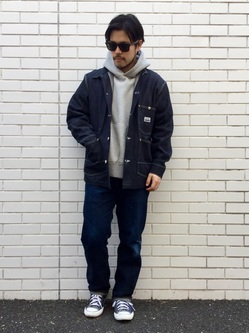 TOKYO HARAJUKU店のSHIZUKUさんのEDWINの【コンセプトショップ限定】COVERALLを使ったコーディネート