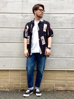 TOKYO HARAJUKU店のSHIZUKUさんのEDWINの【コンセプトショップ限定】EDWIN EUROPE TAROT DECK SHIRTを使ったコーディネート