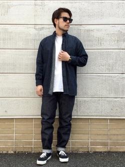 TOKYO HARAJUKU店のSHIZUKUさんのEDWINの【コンセプトショップ限定】B.D SHIRTSを使ったコーディネート