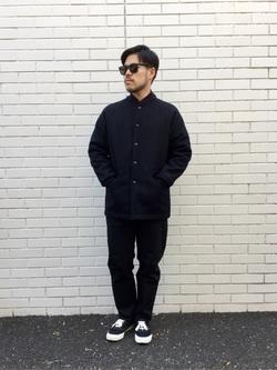 TOKYO HARAJUKU店のSHIZUKUさんのEDWINの【コンセプトショップ限定】EDWIN×SUNNY SPORTS PHARAOH COATを使ったコーディネート